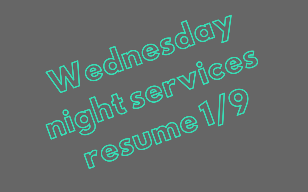 Wednesday Night Meal and Worship Opportunities Resume