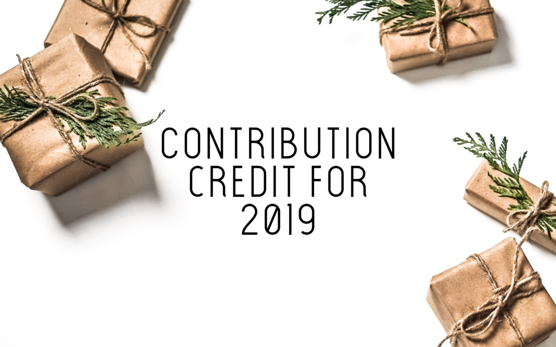 Contribution Credit for 2019